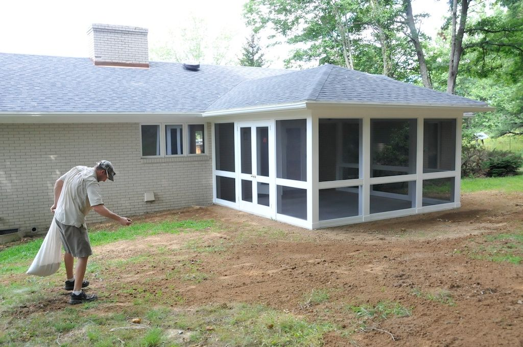 nice screen porch construction plans #3: screen porch construction | Andrew Watkins Custom Homebuilding Inc.
