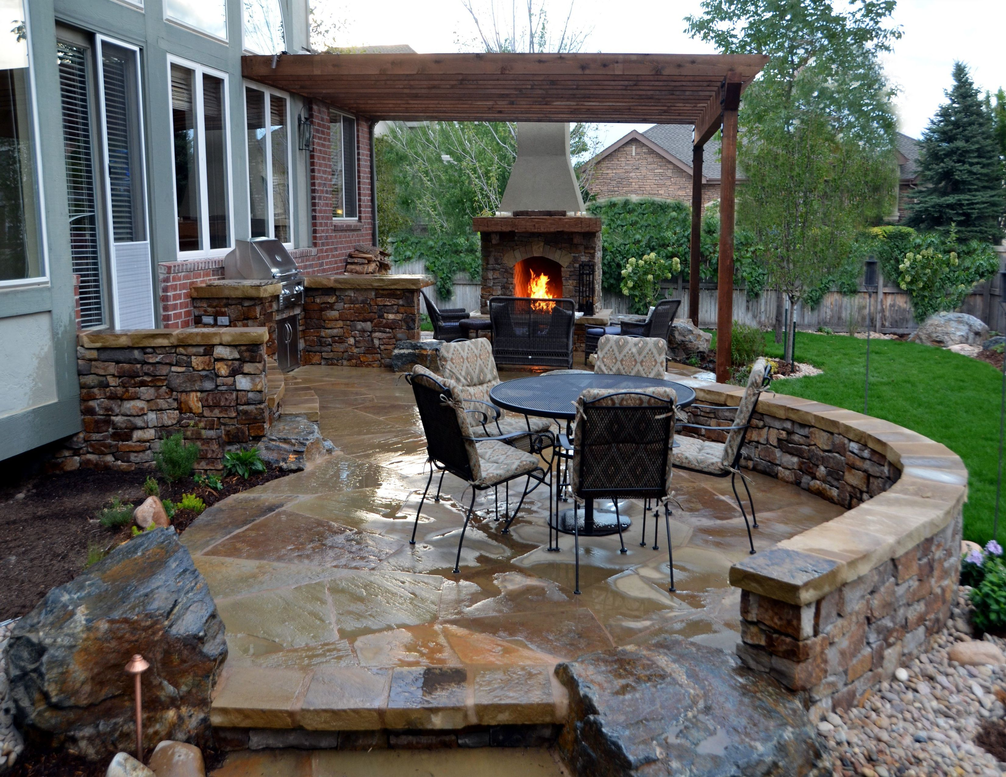 fantastic back patio ideas patio fireplace patio stones on modern deck patio ideas for backyard design and decoration ideas id=12059