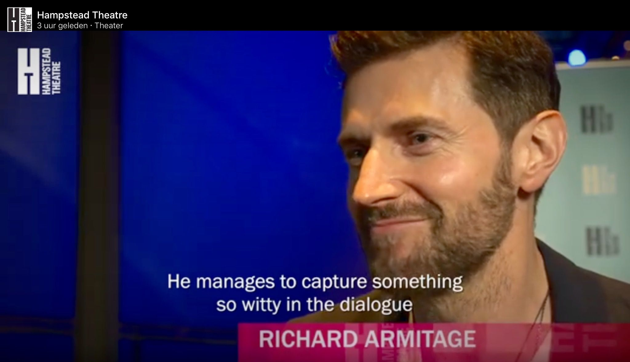 """""""You just have to see this play"""" Richard's reaction on seeing the play Wild, written by Mike Bartlett (also winter of Love love love) in the Hampstead Theatre in London, 16-6-2016"""