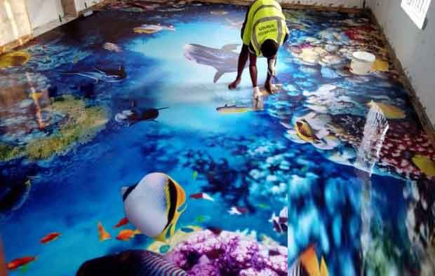 3d flooring design 3d epoxy floor coating for bathroom - How much does it cost to gut a bathroom ...