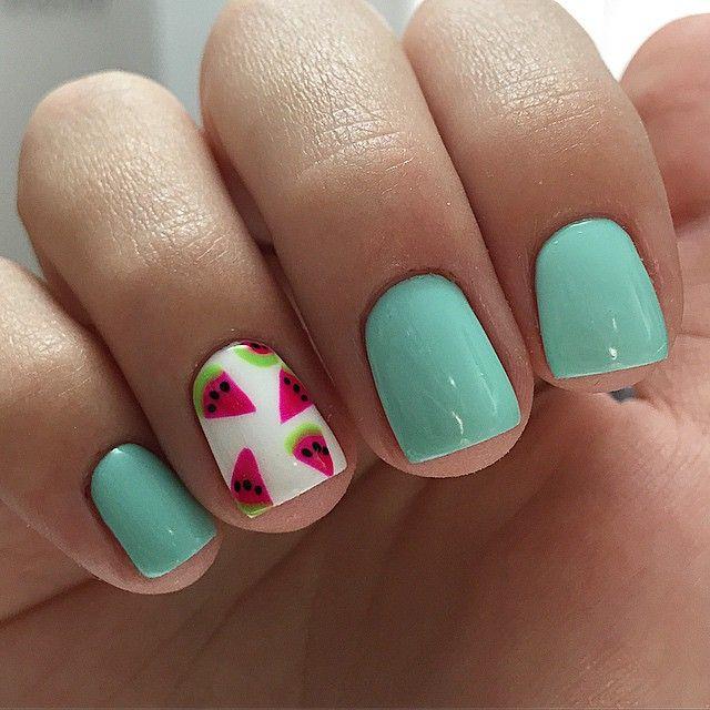 Watermelon Nails Design Summer Fruit Nail Art Design Fruit Nails