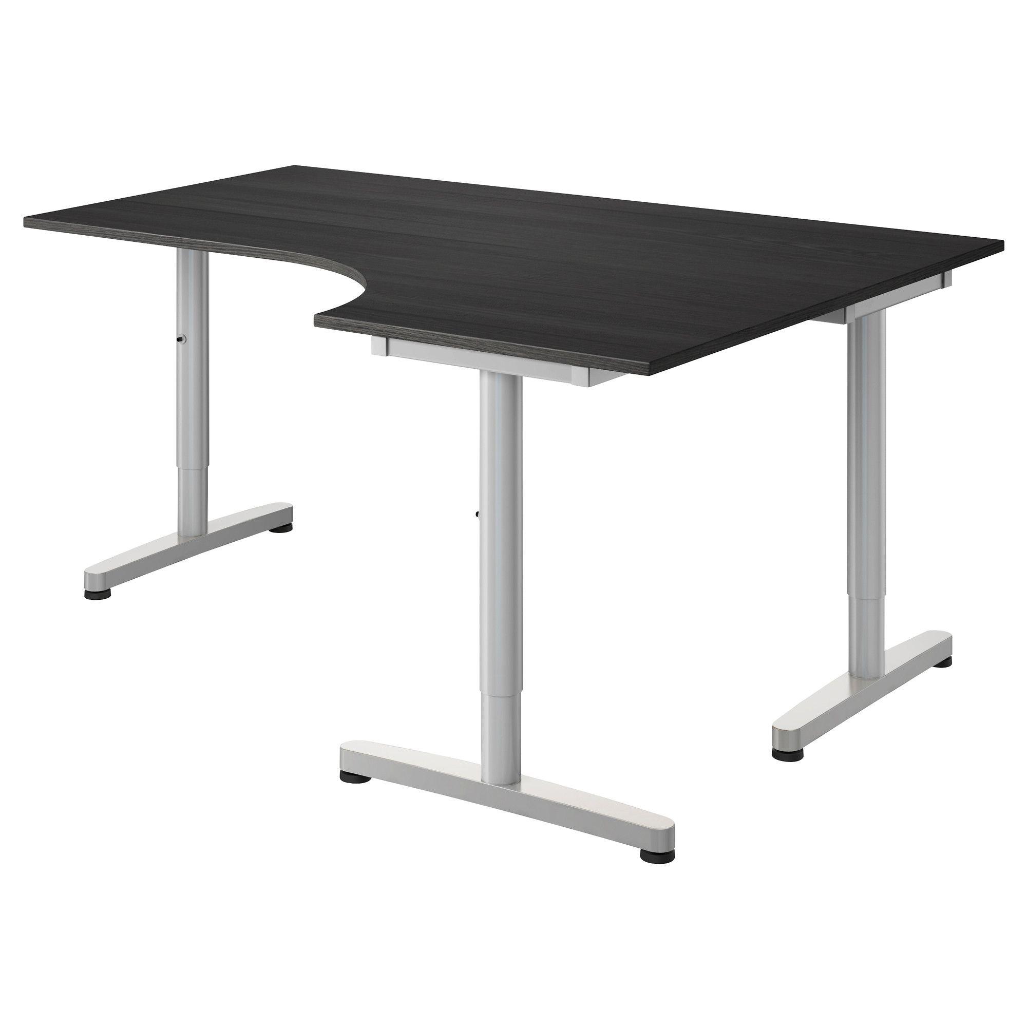 Galant Corner Desk Right Black Brown Ikea Ikea Galant
