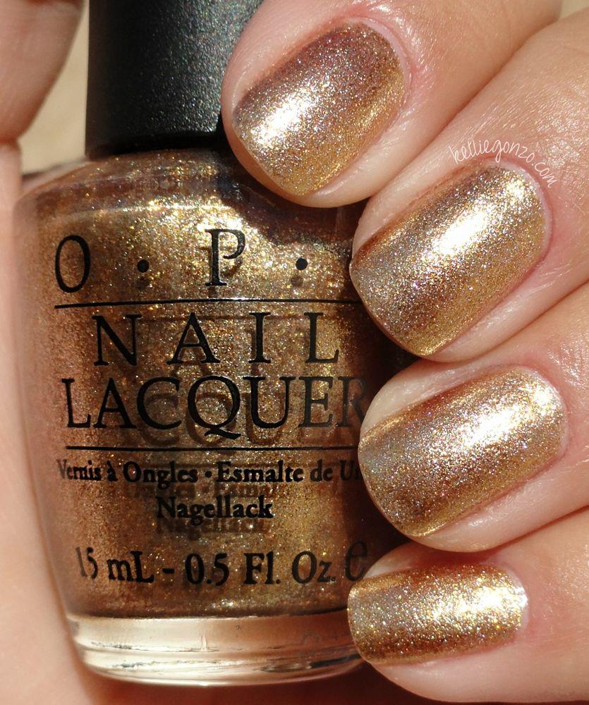 Nail gold polish opi