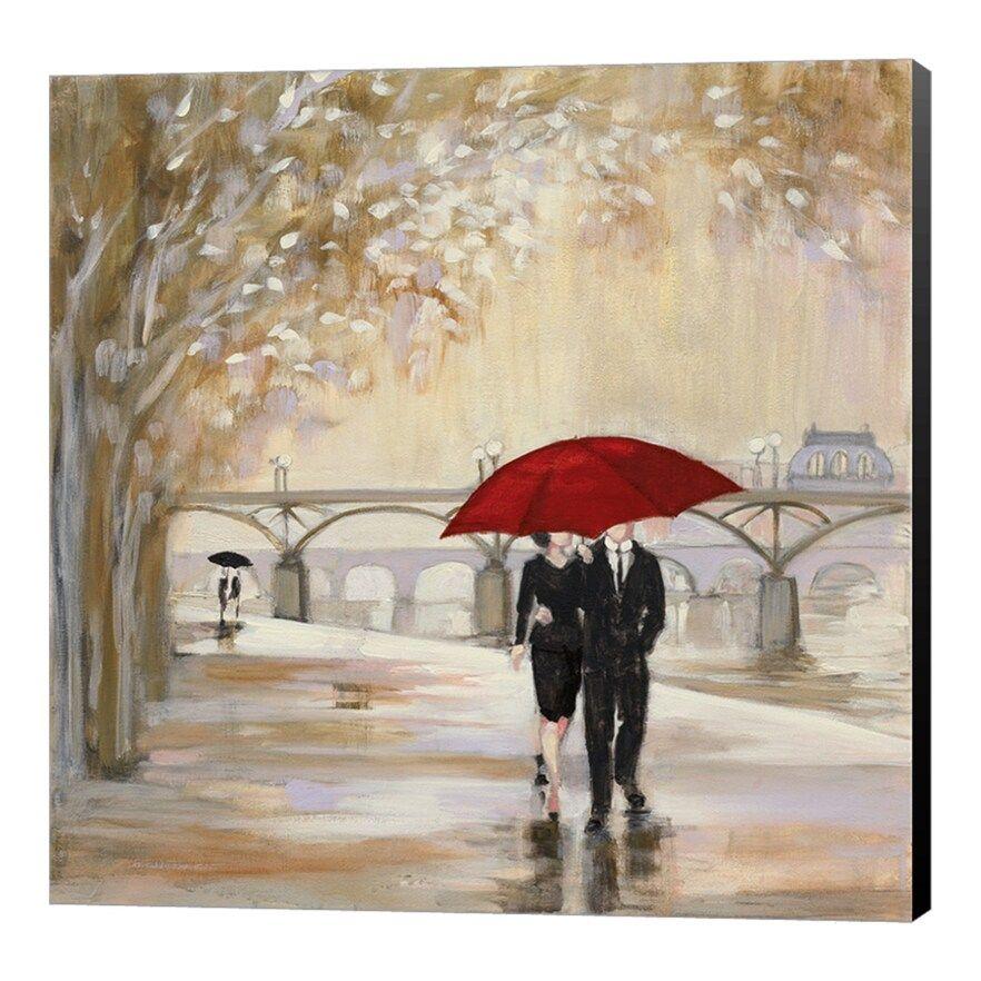 Metaverse Art Romantic Paris Iii Red Umbrella Canvas Wall Art In 2020 Red Umbrella Metaverse Art Romantic Paris