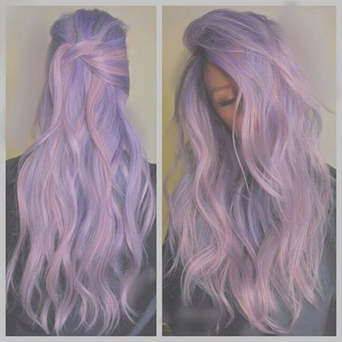 Pin for Later: Pastel Hair: 5 Ways to Choose a Soft Color For Summer Go With Lavender We love dark purple hair, and transitioning to a light and bright lavender is a whimsical way to transition color for Spring and Summer.