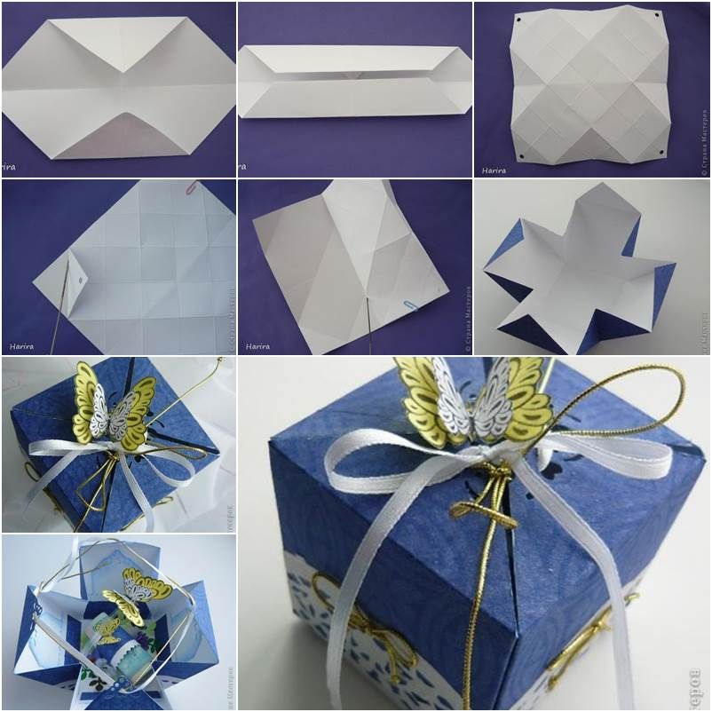 Paper Gift Box Ideas : Diy pretty origami gift box gifts and