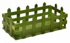 Decotown Dekoratif Yeşil Saksı Çiti - 23x12x8 cm