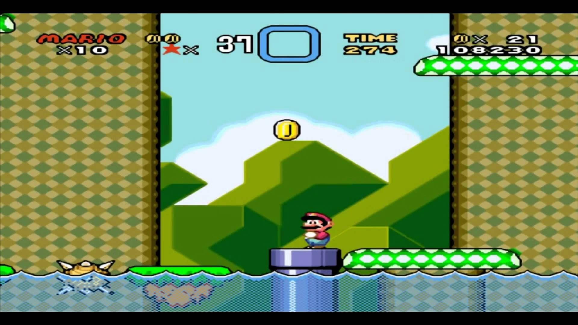 Super Mario World Gameplay 1080p on SNES9x (Area 1) (+