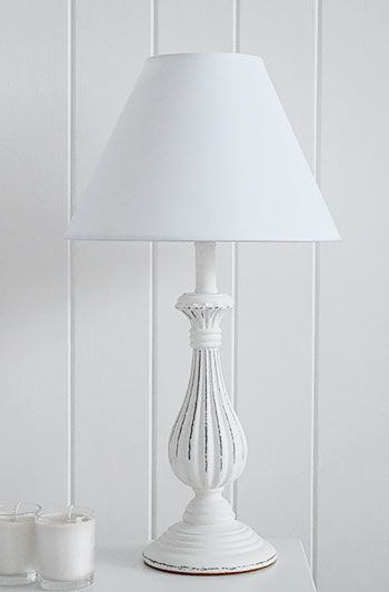 White Wooden Table Lamp Lamp Bedside Lamps Vintage White Lamp Base