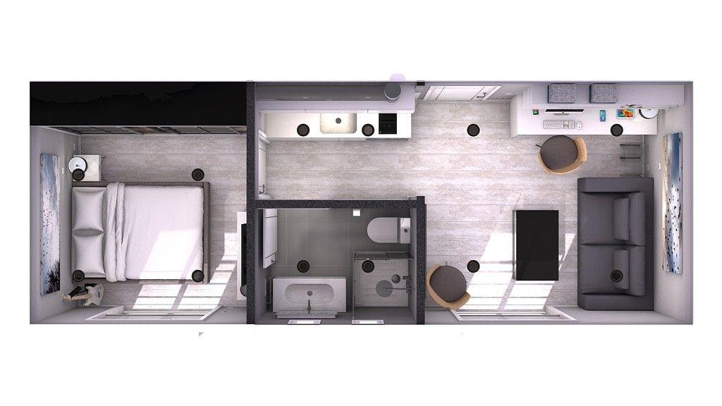 Minipiso 24m2 para juan de zaragoza en 2019 planos de - Casas prefabricadas en zaragoza ...