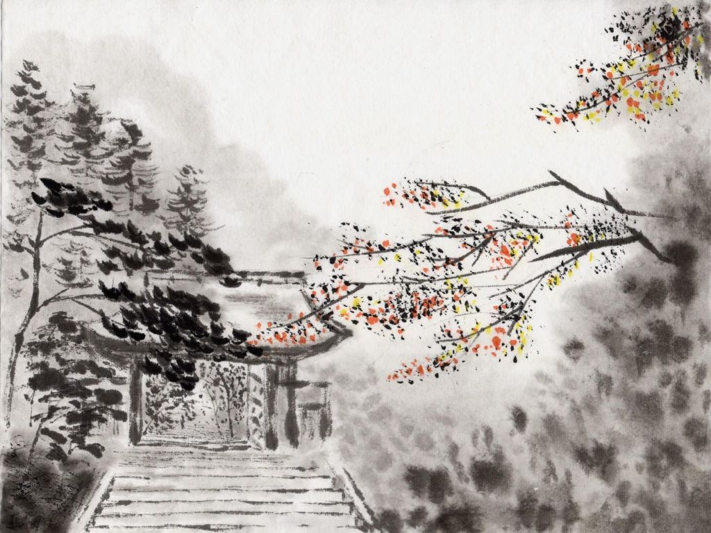 Charcoal Japanese Art Tablet PC Wallpaper | jaapani kunst ...