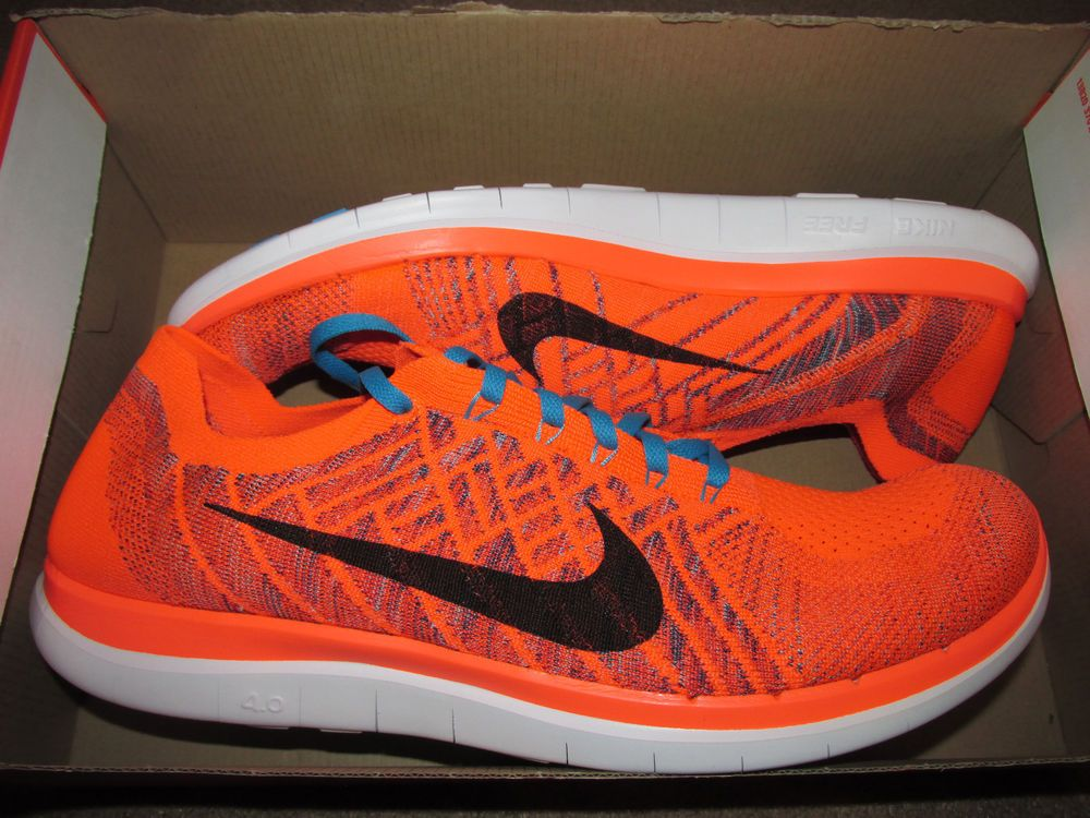 nike free 4.0 flyknit mens orange