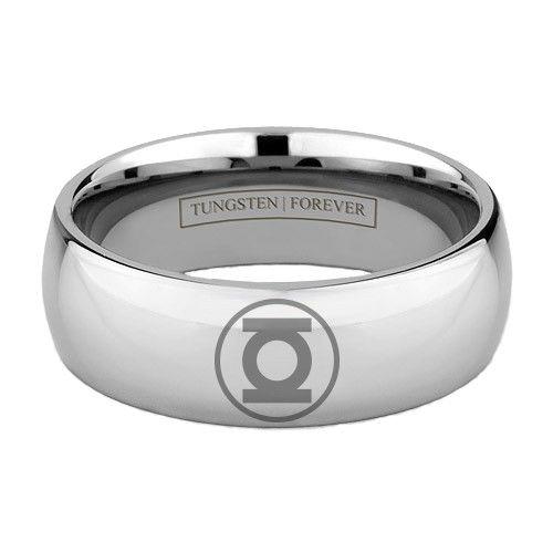 Tungsten Carbide Green Lantern Ring Lesbian Wedding Rings Wedding Ring Uk Lesbian Engagement Ring
