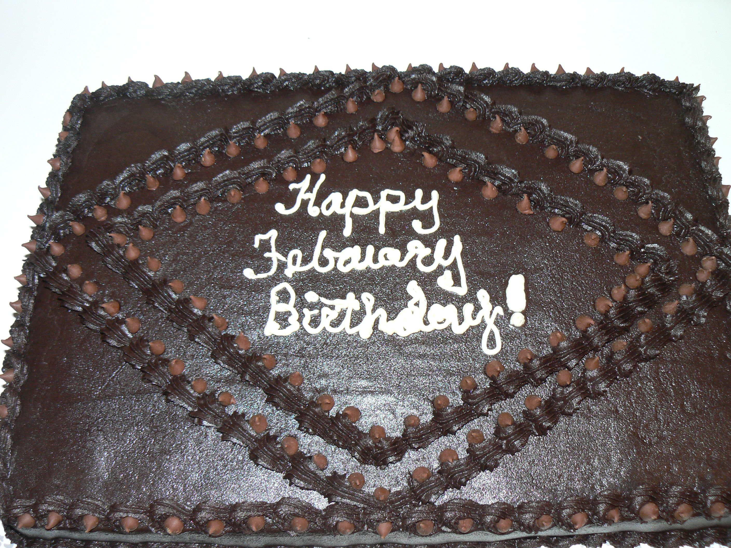 February Birthdays Cake