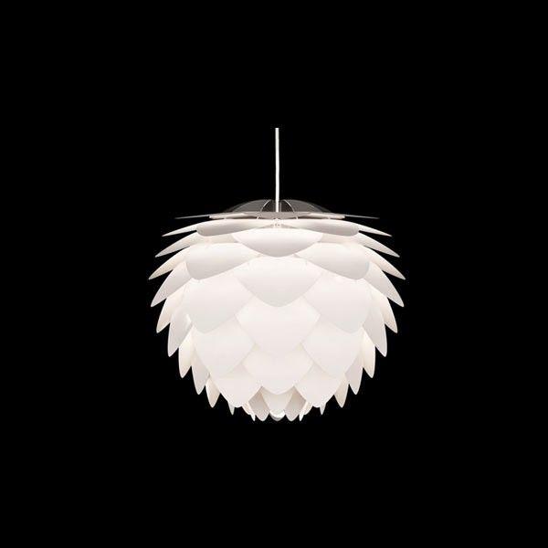 Lámpara de plumas moderna colgante SILVIA MINI en blanco
