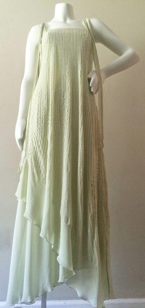 Alberta Ferretti Seafoam Green Gorgeous Draped Gown #AlbertaFerretti #Draped…