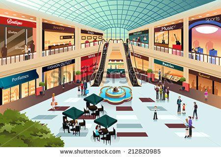 Glastürfassade für Einkaufszentrum - Download Kostenlos Vector, Clipart  Graphics, Vektorgrafiken und Design Vorlagen
