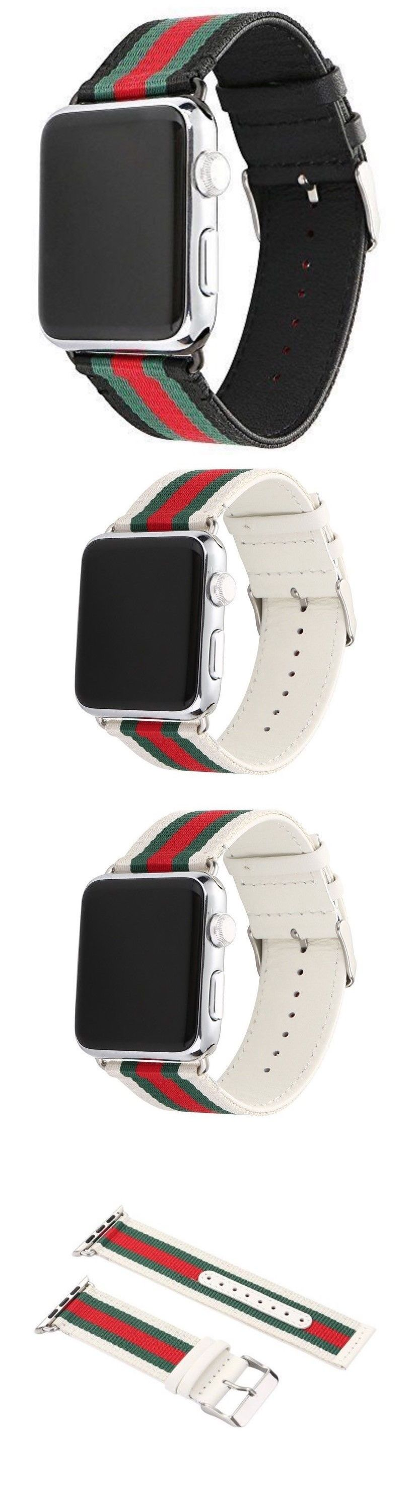c9c37ddfccb Other Watch Parts and Tools 180246  Replacement Nylon Leather Stripe Sport  Band Strap For Apple Watch Iwatch -  BUY IT NOW ONLY   10.79 on eBay!