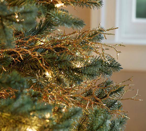Gold Coral Tree Pick Pottery Barn Christmas Coastal Christmas Decor Holiday Decor