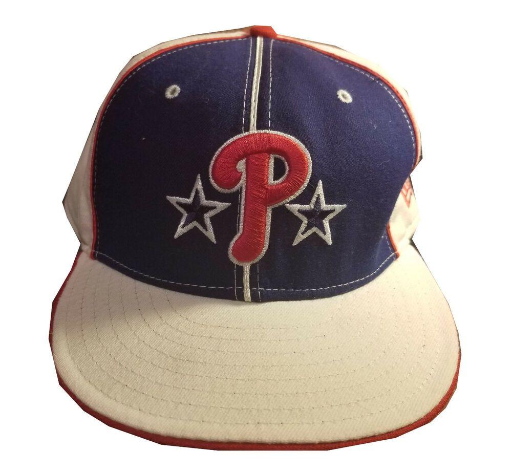 cdeff51059d Red White Blue Philadelphia Phillies Cap Hat New Era Fitted 7 3 4 MLB   NewEra  BaseballCap