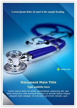 Medical Stethoscope Word Document Template Is One Of The Best Word