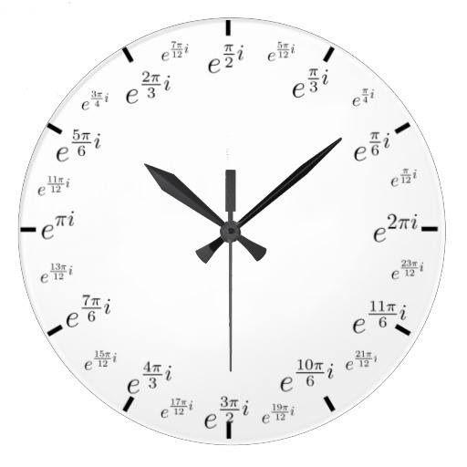 Math watch | Science Nauka | Math wall, Math clock ...