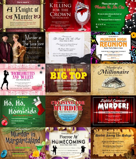Murder Mystery Dinner Sheet Free: Download A FREE Invitation To A Murder Mystery Party Here