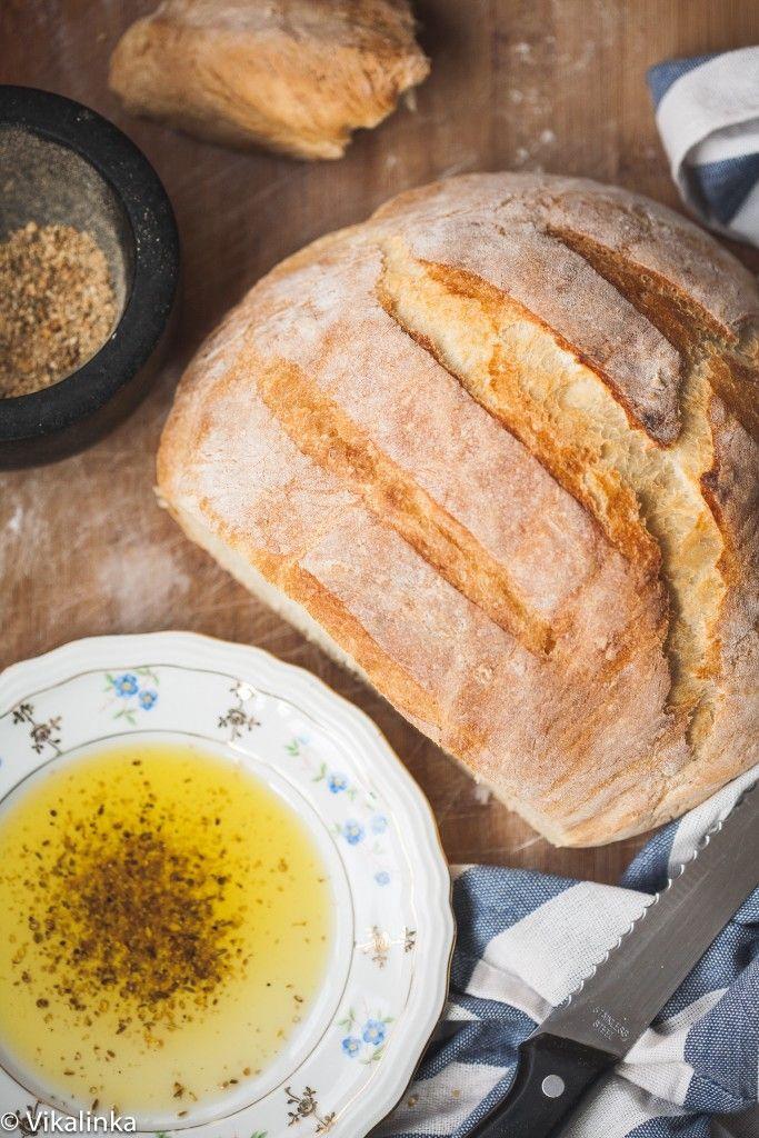 No knead bread recipe with dukkah spice dip   No knead ...