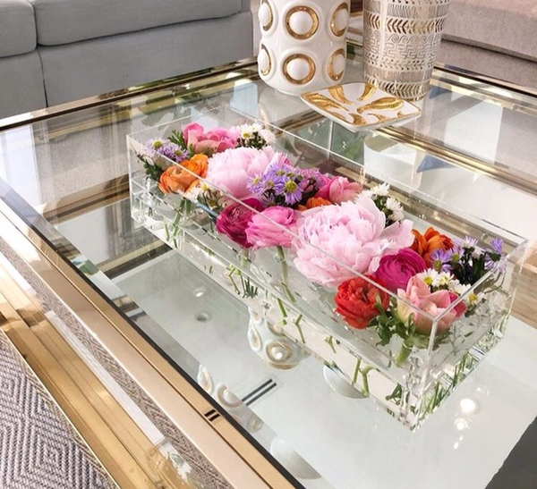 Not Just Another Home Decor Site: 24 Hole Low Rectangle Acrylic Flower Box