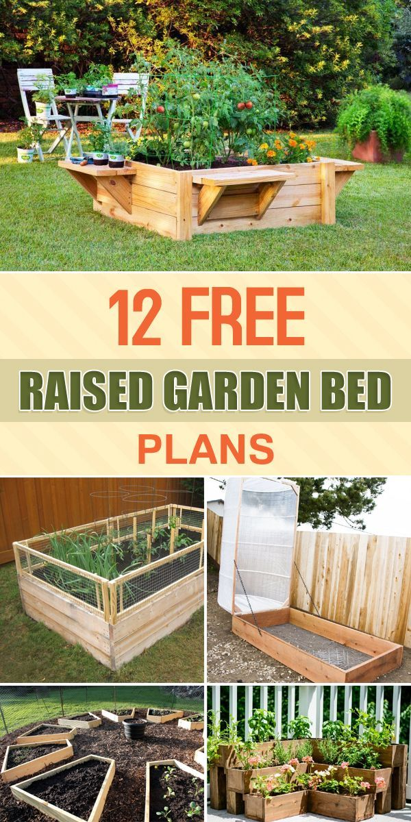 12 Free Raised Garden Bed Plans | Raised garden bed plans ... Raised Vegetable Garden Box Designs on
