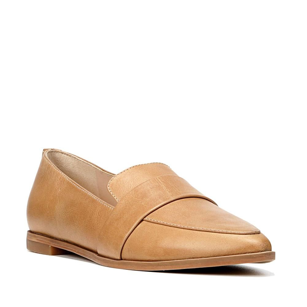d8709408848 Dr. Scholl s Original Ashah Leather Pointed-Toe Loafer - Tan ...