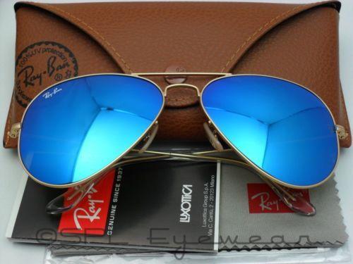 ray ban aviator 58mm blau