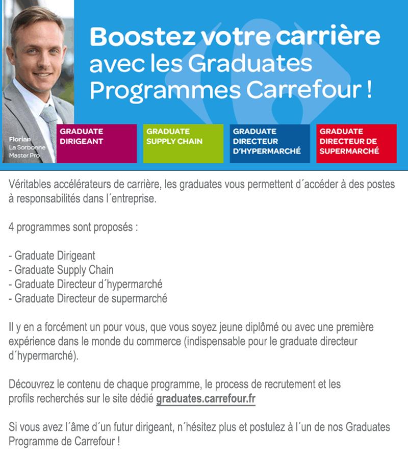 Boostez votre #carrière avec les Graduates Programmes de Carrefour !