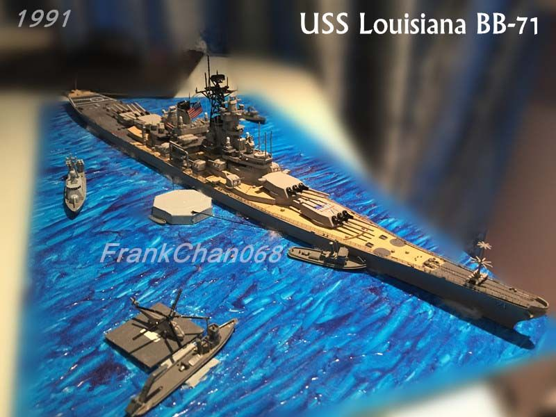 1//700 Blue Ridge Models USS Louisiana BB-71 Montana Class Battleship