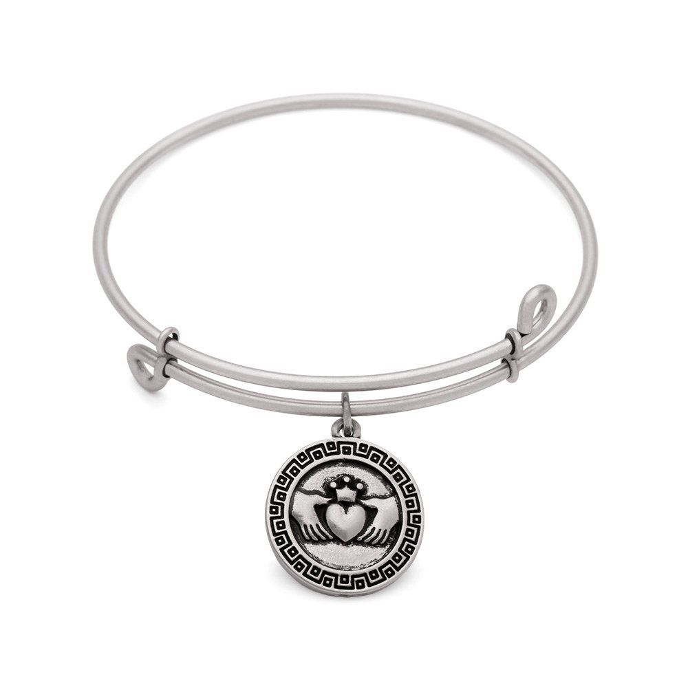 Sol 210016 claddagh bangle antique silver color finish the sign of sol 210016 claddagh bangle antique silver color finish the sign of the claddagh an irish symbol of love uses hands heart and a crown to symbolize buycottarizona Choice Image