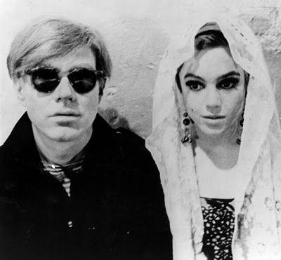 Edie Sedgwick with Andy Warhol Edie sedgwick, Warhol