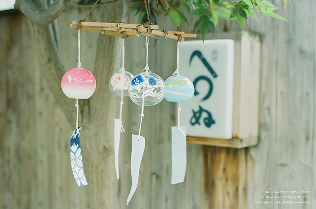 Japanese wind chime. by yuqicoo, via Flickr