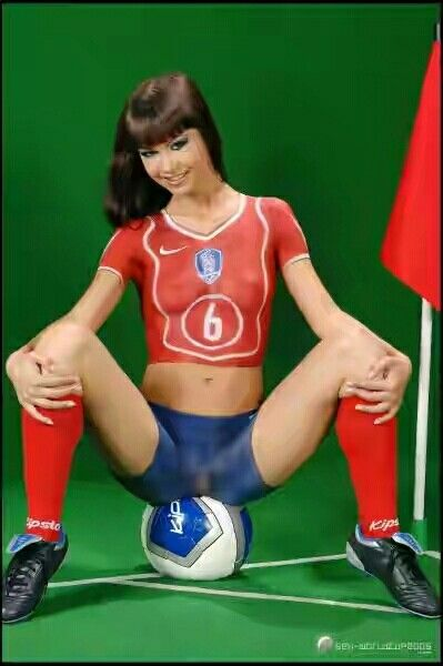 France Body Painting Soccer Finger Paint Cosplay Sport Rushporn 1
