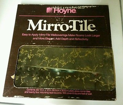vintage 70 39 s hoyne gold vein mirror tile 6qty 12 12 home garden home decor mirrors. Black Bedroom Furniture Sets. Home Design Ideas
