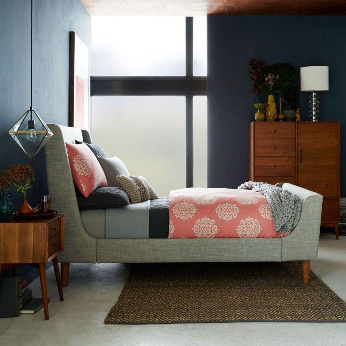 Upholstered Sleigh Bed Upholstered sleigh bed, Bed