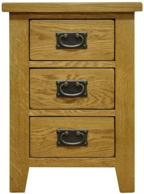 Alton Oak Bedside Cabinet Large 3