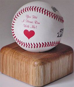 cute idea but maybe get a real autographed baseball for your ...