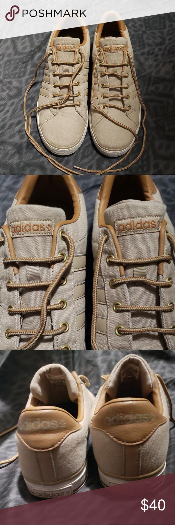 Adidas neo brown tan daily sneaker shoes Adidas neo khaki brown ...