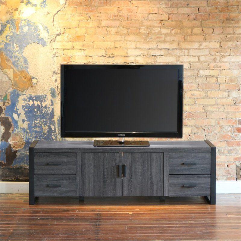 70 Charcoal Grey Wood Tv Stand Decor Design Decoracion Y Diseno