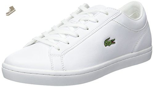 688a582fe33ed Lacoste Womens White Straightset BL1 SPW Trainers-UK 3 - Lacoste ...