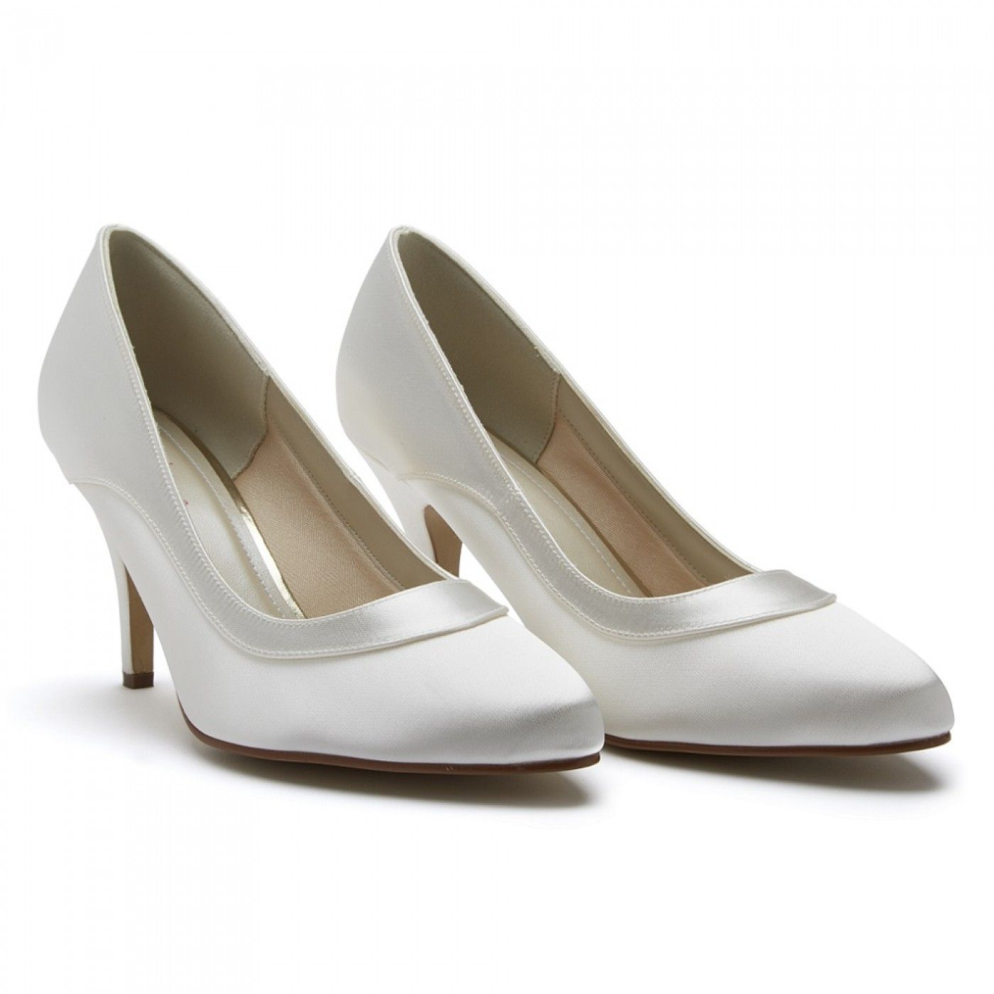 Dyeable Ivory Satin Wide Fit