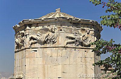 Toren Van De Wind Goden Athene Gree Stamps Money Athene