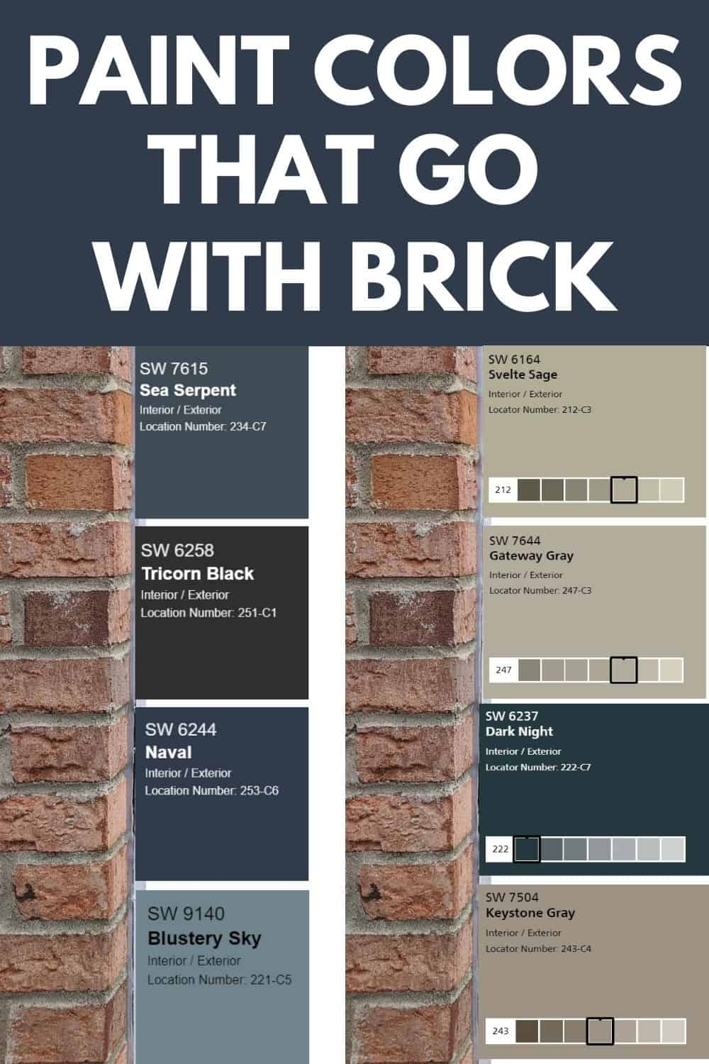 12+ Exterior house paint colors with brick info