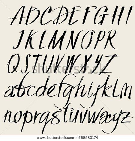 Risultati immagini per hand lettering font