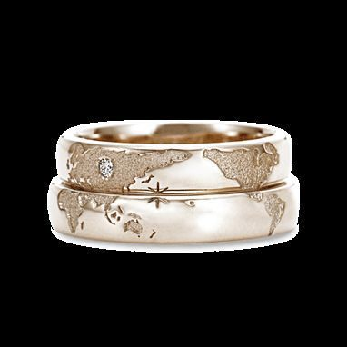 989d5ddb63 long-distance-couple-rings | Couple Wedding Ring Designs in 2019 ...